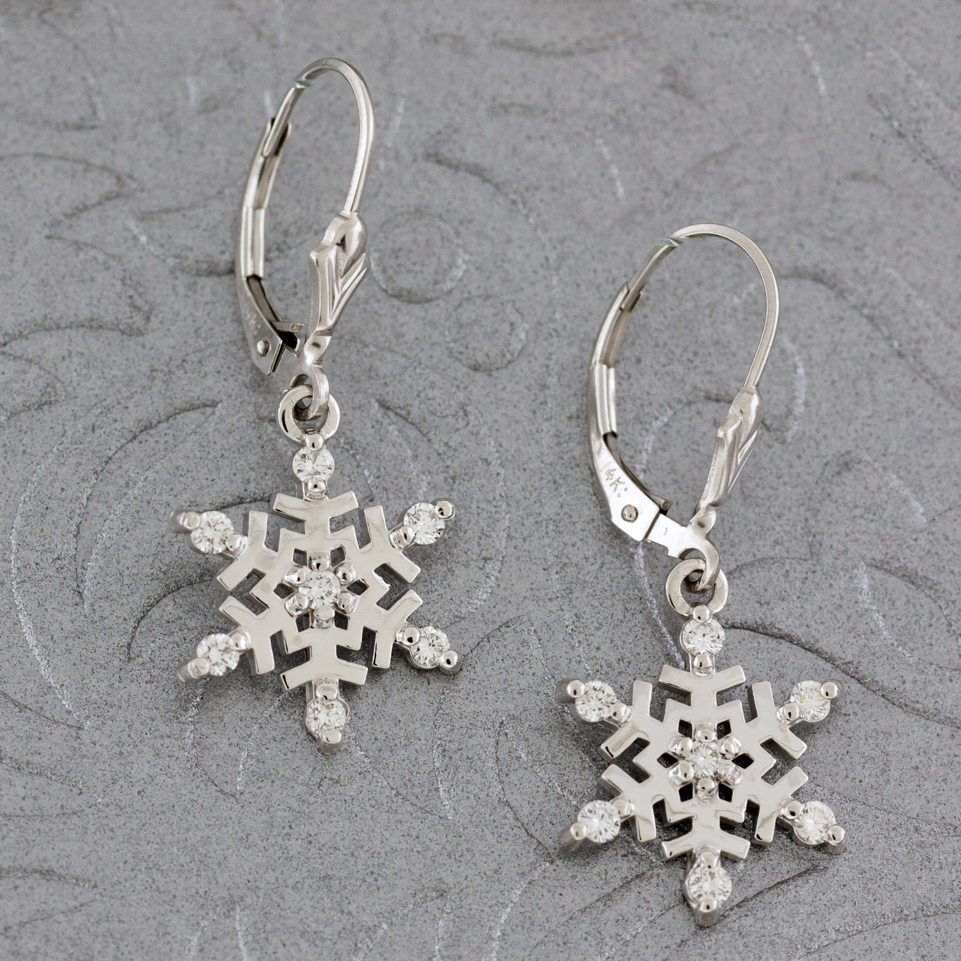 Diamond Snowflakes Earrings