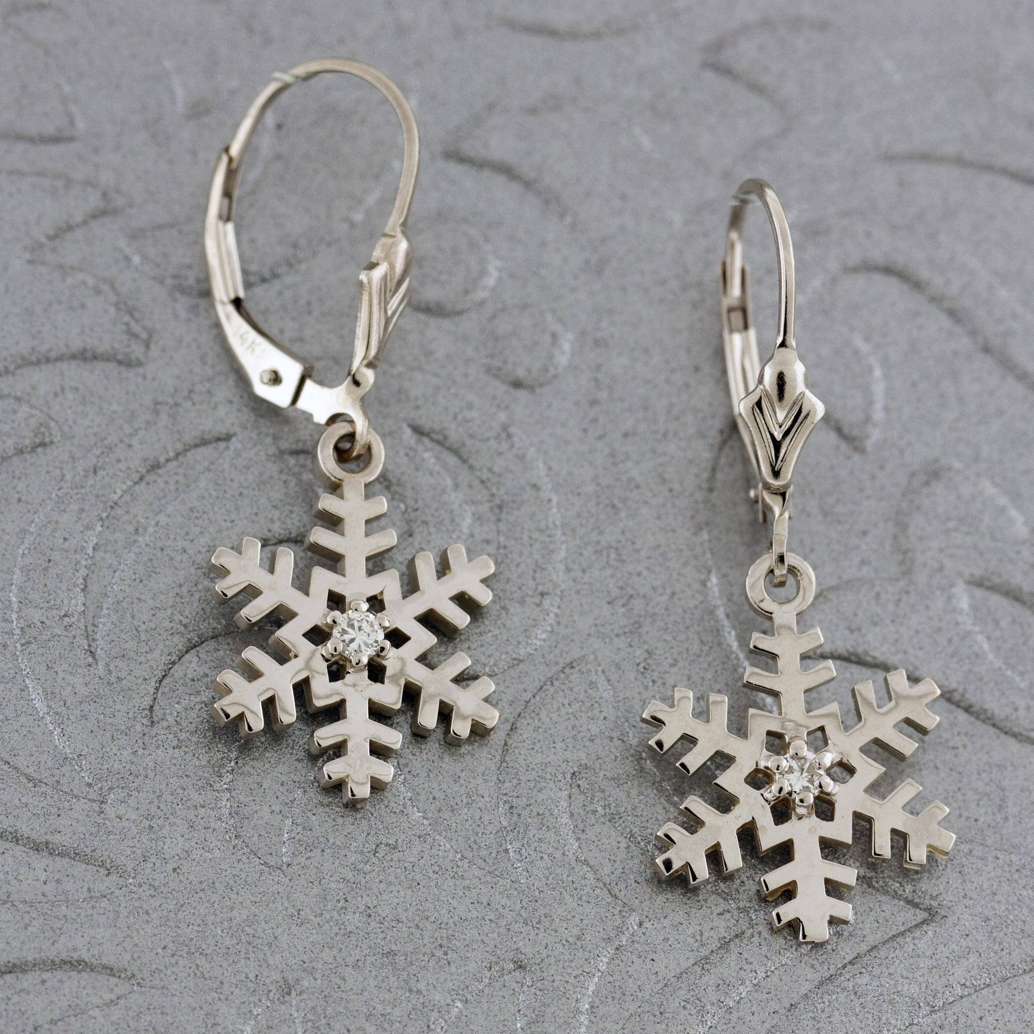 Diamond Snowflakes Earrings