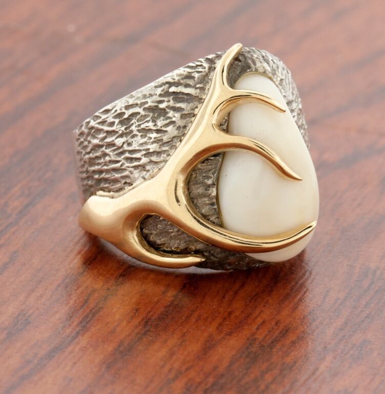 Gold And Ivory Ring